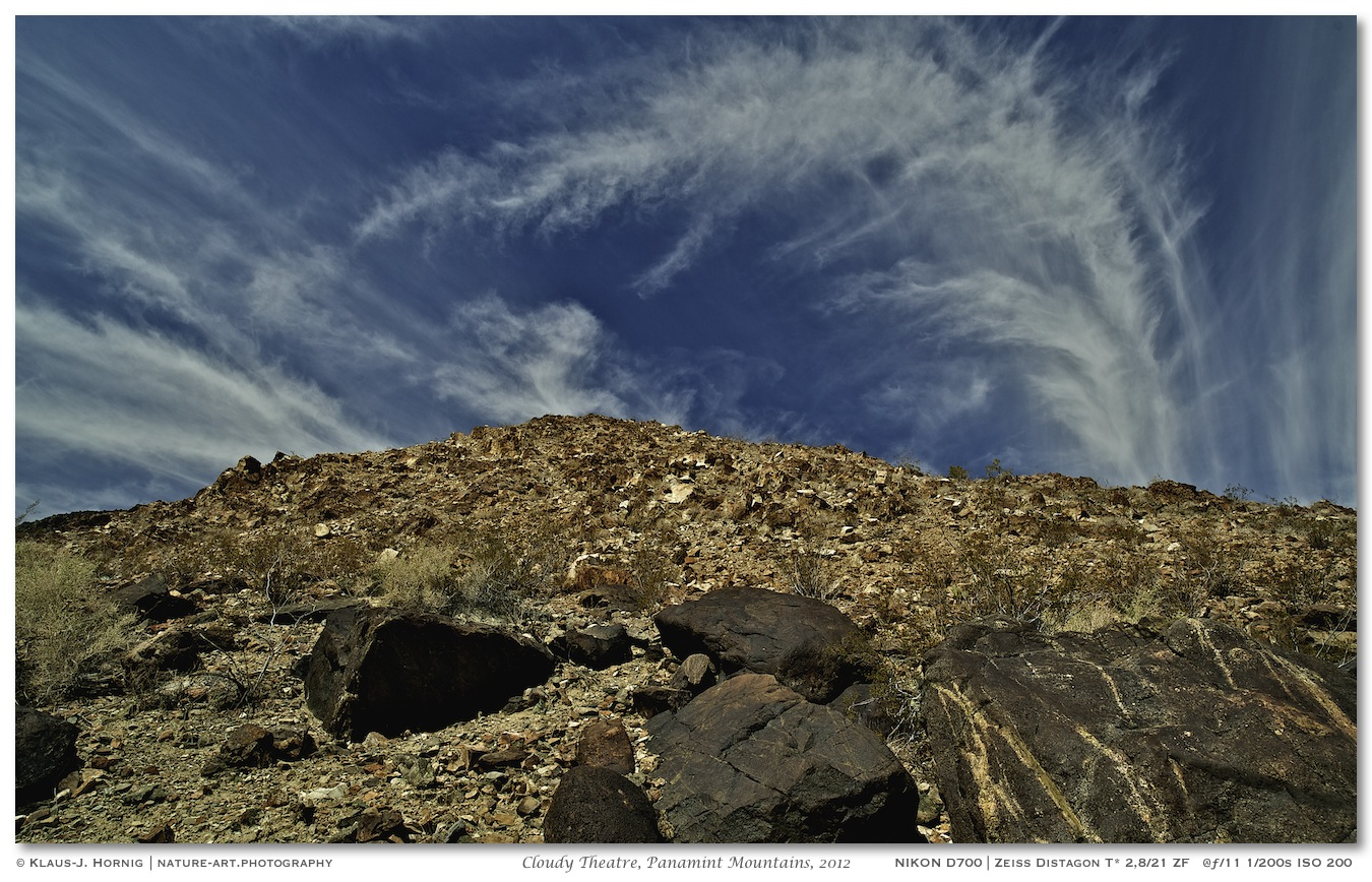 Cloudy Theatre, Panamint Mountains, 2012